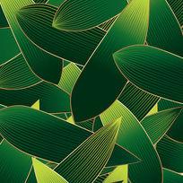 竹叶图案AI