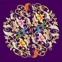 紫花图案AI