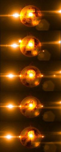 金属5秒倒计时动态炫酷光效视频素材