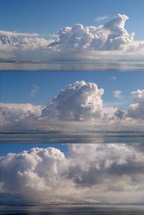蓝天白云云彩翻滚高清视频素材