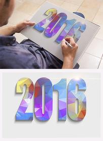 2016彩色字体设计