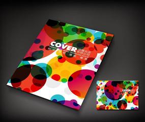 彩色圆点广告册封面设计