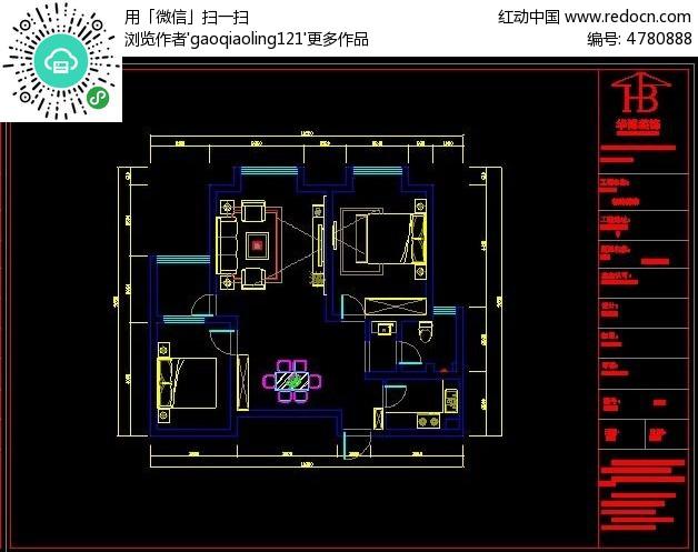 标签:小户型CAD布置图纸 CAD格式 CAD图纸 平面图纸-15款 CAD户