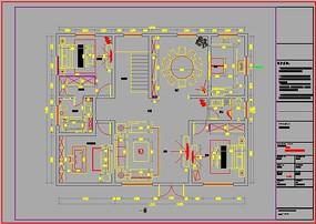 一楼家装CAD图纸