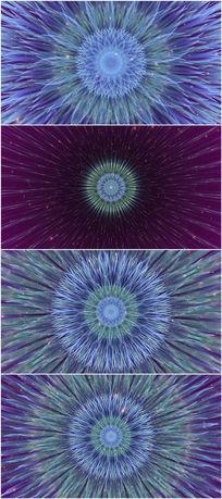 2k蓝色花纹花朵绽放特效视频素材
