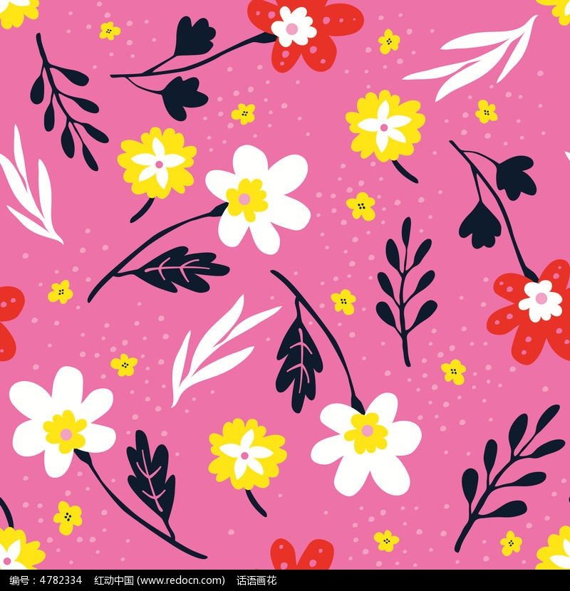 粉色背景花型壁纸设计模板图片