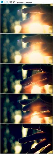 高清实拍手指缝中的阳光视频素材