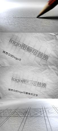 建筑公司图纸绘制LOGO演绎ae模板