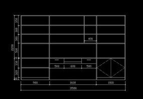 家装CAD装饰柜子图纸