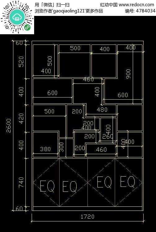 家装博古架CAD图纸
