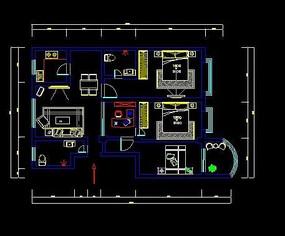 CAD模型家装布置图平面和图片07cad解除怎么块图片
