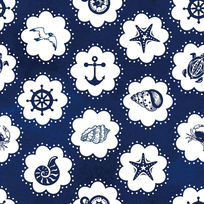 蓝色夏日海洋墙纸模板下载