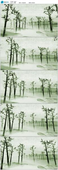 清新唯美竹林LED循环背景视频素材