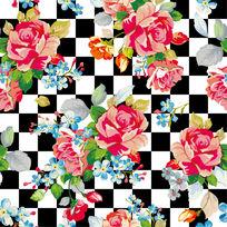 无缝对接花型装饰墙纸设计