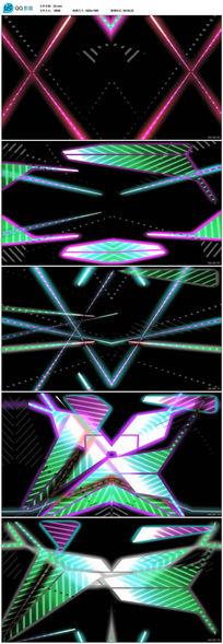 舞台灯光造型七彩霓虹灯射灯LED视频素材