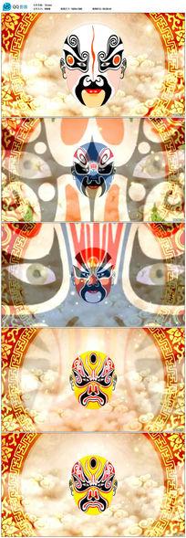 戏剧脸谱演出节目LED视频素材