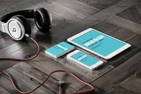 手机Ipadq名片VI场景智能贴图模板