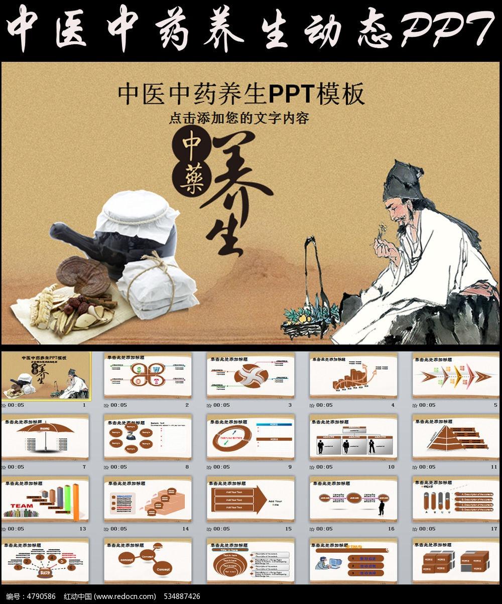 中医中药养生文化ppt模板