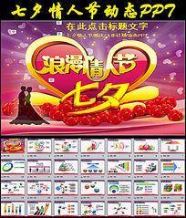 红色浪漫七夕情人节工作报告动态PPT模板