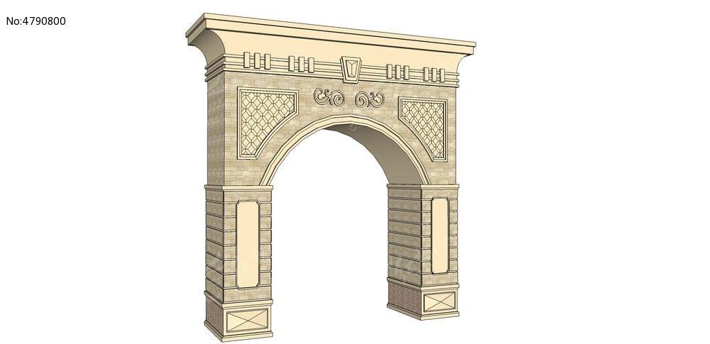 欧式门楼_3d模型/3d素材图片素材