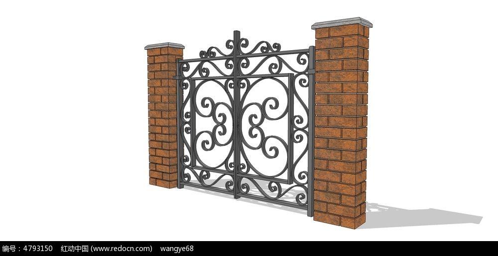 欧式铁门_3d模型/3d素材图片素材