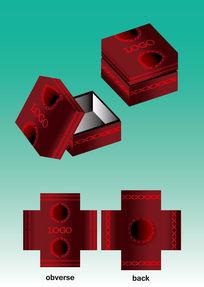 深红珠宝首饰盒设计