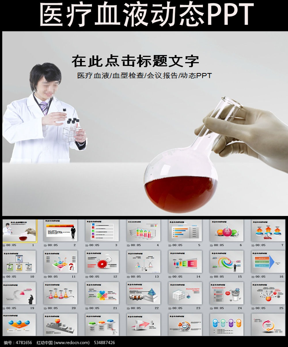 血会议报告ppt模板