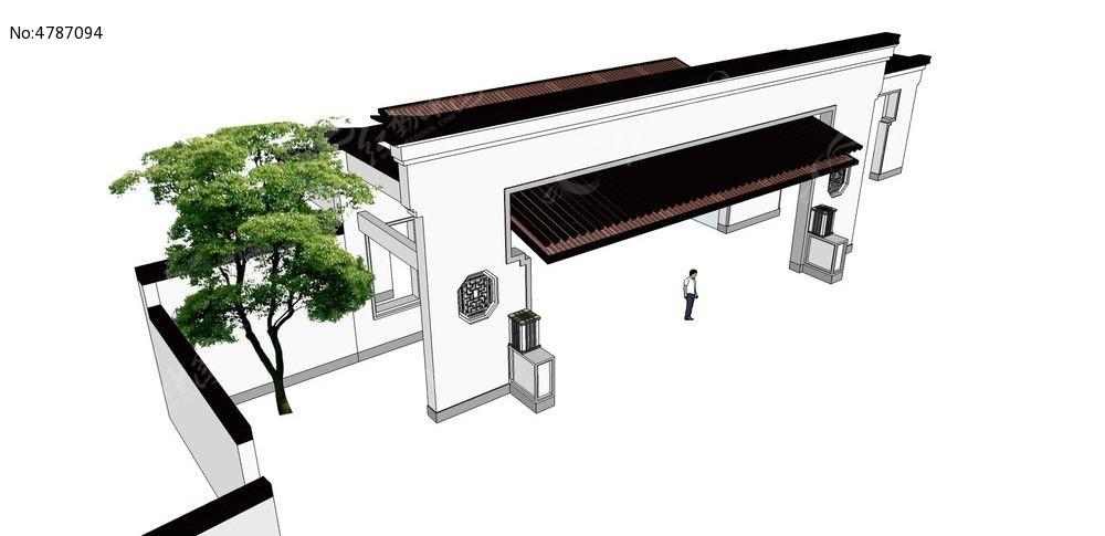 欧式大门草图大师sketchup建筑景观模型