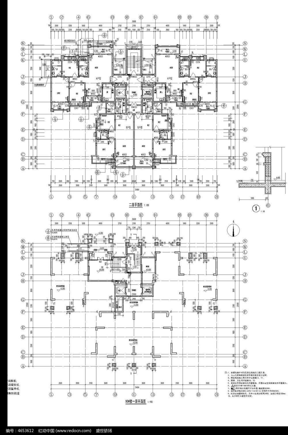cad建筑平面图纸