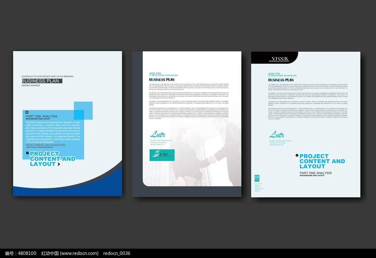 简洁企业简介宣传单模板psd素材下载