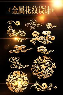 传统祥云花纹图案设计