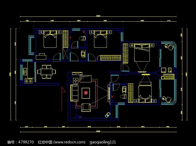 标签:家装大户型平面布置CAD图纸 家装图纸 CAD图纸 CAD格式 平