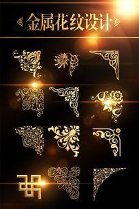 金属花纹边角线素材