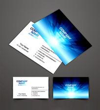 蓝色科技公司名片模板