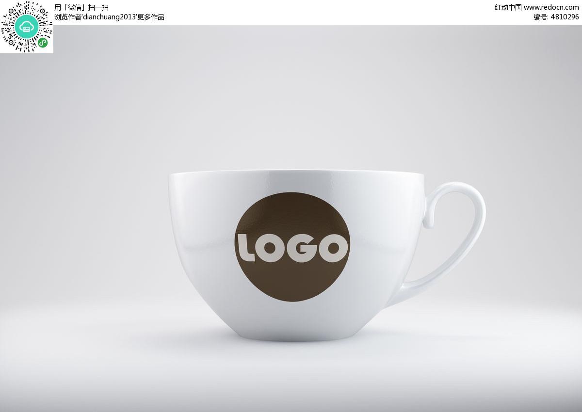 vi大杯子logo展示效果图图片图片