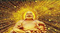 金色光线佛祖背景视频