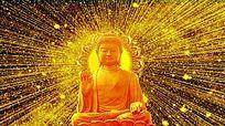金色光线佛祖视频素材