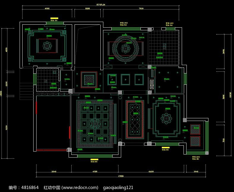 欧式吊顶图纸v图纸图纸geMAC800家装心电图片