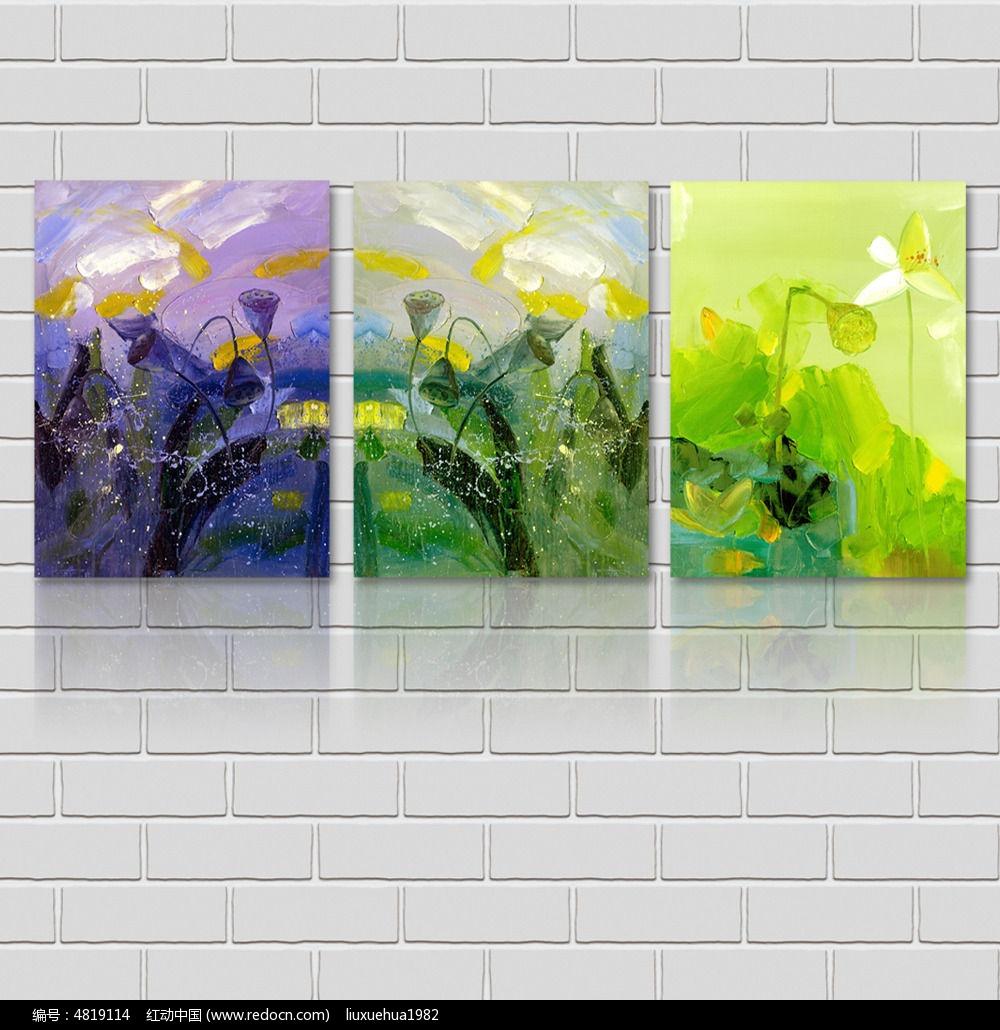 欧式淡雅复古鲜花绿色背景图片