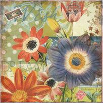 时尚花卉图案装饰画模板