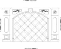 展厅玉石背景墙---红龙玉玉石背景墙设计安装图纸