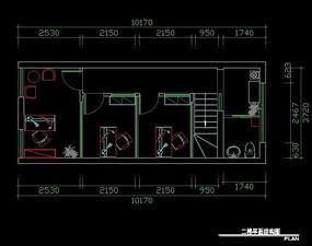 办公室二楼平面结构设计图纸