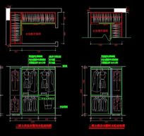 别墅二楼衣柜内部结构设计图纸