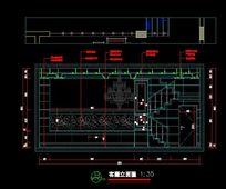 别墅设计客厅立面图 CAD