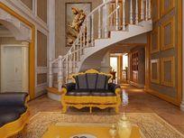 别墅室内模型效果模型 max