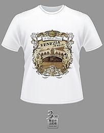 创意花纹威尼斯主题文化衫