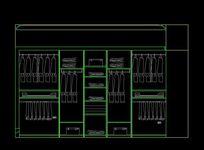 大型衣柜内部结构设计图