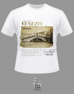 古典建筑风景文化衫