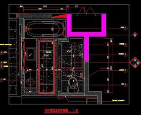 家装户型卫生间平面图