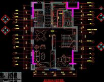 酒店套间户型平面图 CAD